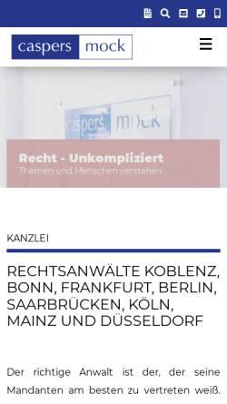 Vorschau der mobilen Webseite www.caspers-mock.de, Rechtsanwälte Dr. Caspers, Mock & Partner