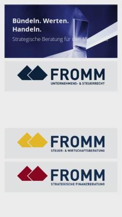 Vorschau der mobilen Webseite www.fromm-koblenz.de, Rechtsanwälte Fromm und Partner
