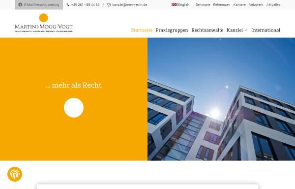 Vorschau von www.mmv-recht.de, Rechtsanwälte Martini Mogg Vogt