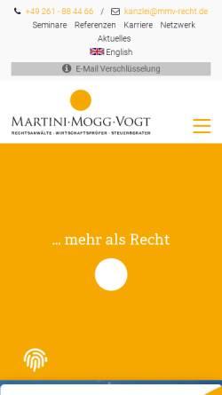 Vorschau der mobilen Webseite www.mmv-recht.de, Rechtsanwälte Martini Mogg Vogt