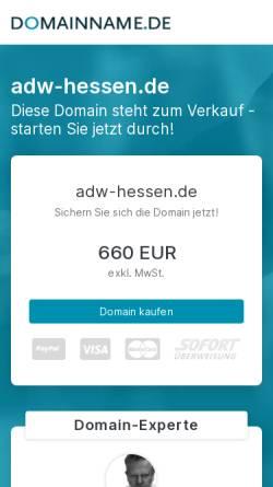 Vorschau der mobilen Webseite www.adw-hessen.de, Akademie der Wirtschaft Hessen