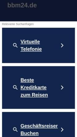 Vorschau der mobilen Webseite www.bbm24.de, BBM - Berufsbildungsmessen