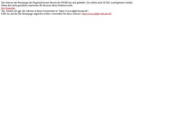 Vorschau von www.dghk-rmh.de, Deutsche Gesellschaft für das hochbegabte Kind e.V.