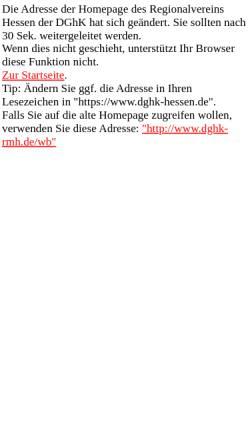 Vorschau der mobilen Webseite www.dghk-rmh.de, Deutsche Gesellschaft für das hochbegabte Kind e.V.