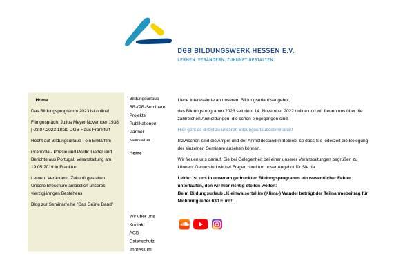 Vorschau von www.dgb-bildungswerk-hessen.de, DGB-Bildungswerk Hessen e.V.