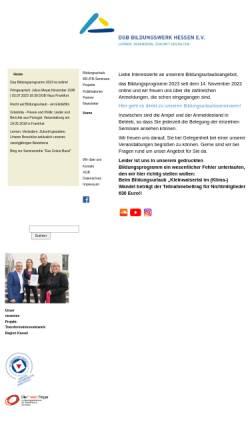 Vorschau der mobilen Webseite www.dgb-bildungswerk-hessen.de, DGB-Bildungswerk Hessen e.V.