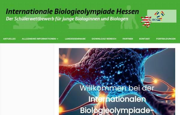 Vorschau von www.biologieolympiade-hessen.de, Internationale Biologieolympiade Hessen (IBO)