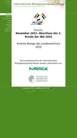 Vorschau der mobilen Webseite www.biologieolympiade-hessen.de, Internationale Biologieolympiade Hessen (IBO)