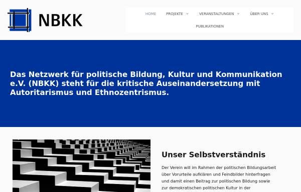 Vorschau von www.nbkk.de, Netzwerk für politische Bildung, Kultur und Kommunikation e.V.