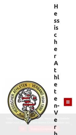 Vorschau der mobilen Webseite www.hav-hessen.de, Hessischer Athleten-Verband 1899 e.V.