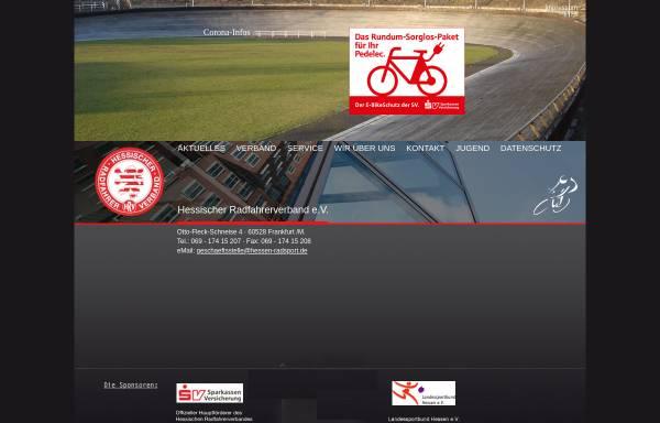 Vorschau von hessen-radsport.de, Hessischer Radfahrerverband e.V.
