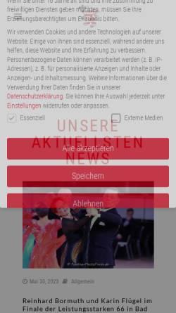 Vorschau der mobilen Webseite www.htv.de, Hessischer Tanzsportverband e.V. (HTV)