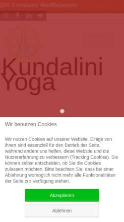 Vorschau der mobilen Webseite www.yogaraum.de, Kundalini Yoga