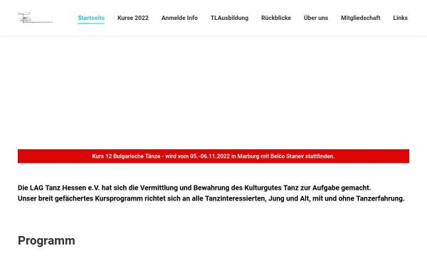 Vorschau von lag-tanz-hessen.de, Landesarbeitsgemeinschaft Tanz Hessen e.V.