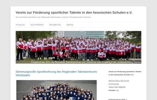 Vorschau von www.talentfoerderung-in-hessen.de, Verein zur Förderung sportlicher Talente in den hessischen Schulen e.V.