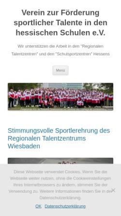 Vorschau der mobilen Webseite www.talentfoerderung-in-hessen.de, Verein zur Förderung sportlicher Talente in den hessischen Schulen e.V.
