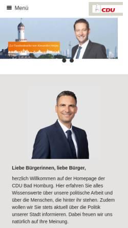 Vorschau der mobilen Webseite www.cdu-badhomburg.de, CDU Bad Homburg