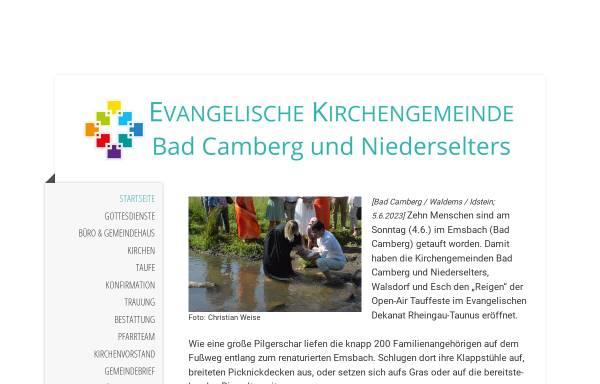 Vorschau von www.badcamberg-evangelisch.de, Ev. Kirchengemeinde Bad Camberg und Niederselters