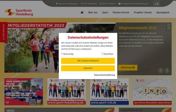 Vorschau von www.sportkreis-heidelberg.de, Sportkreis Heidelberg e.V.