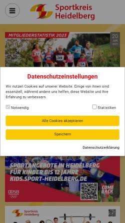 Vorschau der mobilen Webseite www.sportkreis-heidelberg.de, Sportkreis Heidelberg e.V.