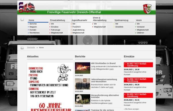 Vorschau von www.feuerwehr-offenthal.de, Freiwillige Feuerwehr Dreieich-Offenthal