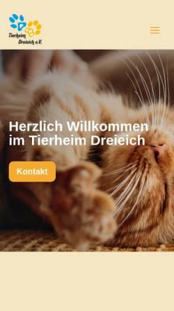 Vorschau der mobilen Webseite www.tierheim-dreieich.de, Tierheim Dreieich e.V.
