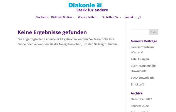 Vorschau von www.diakonie-giessen.de, Diakonisches Werk Gießen