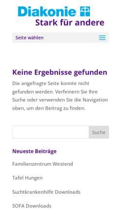 Vorschau der mobilen Webseite www.diakonie-giessen.de, Diakonisches Werk Gießen