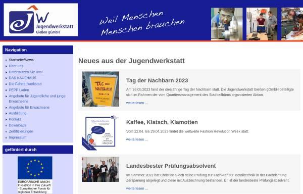 Vorschau von jugendwerkstatt-giessen.de, Jugendwerkstatt Gießen e. V.