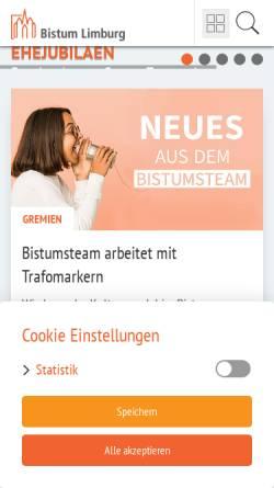 Vorschau der mobilen Webseite www.bistumlimburg.de, Bistum Limburg