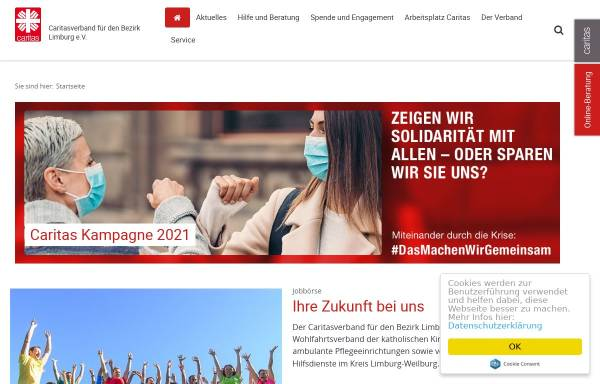 Vorschau von www.caritaslimburg.de, Caritasverband Limburg e.V.