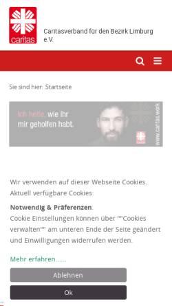 Vorschau der mobilen Webseite www.caritaslimburg.de, Caritasverband Limburg e.V.