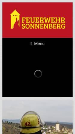 Vorschau der mobilen Webseite www.feuerwehr-sonnenberg.de, Freiwillige Feuerwehr Wiesbaden-Sonnenberg 1896