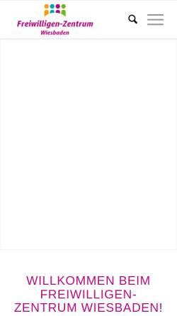 Vorschau der mobilen Webseite www.fwz-wiesbaden.de, Freiwilligenzentrum Wiesbaden e.V.