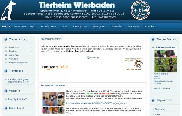 Vorschau von www.tierschutzverein-wiesbaden.de, Tierschutzverein für Wiesbaden und Umgebung e.V.