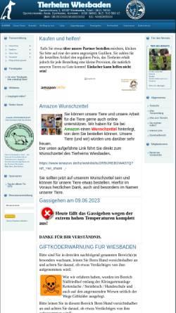 Vorschau der mobilen Webseite www.tierschutzverein-wiesbaden.de, Tierschutzverein für Wiesbaden und Umgebung e.V.