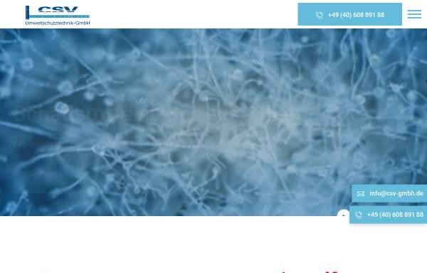 Vorschau von www.csv-gmbh.de, CSV Umweltschutztechnik-GmbH