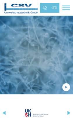 Vorschau der mobilen Webseite www.csv-gmbh.de, CSV Umweltschutztechnik-GmbH