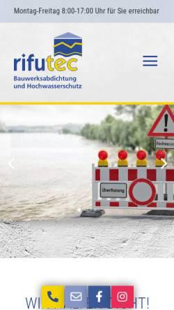 Vorschau der mobilen Webseite www.rifutec.de, rifutec GmbH