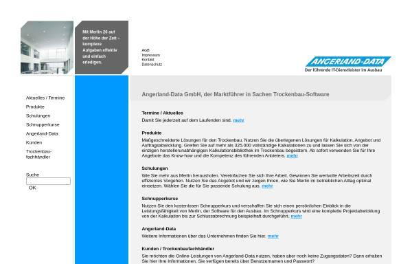 Vorschau von www.angerland-data.de, Angerland Data GmbH