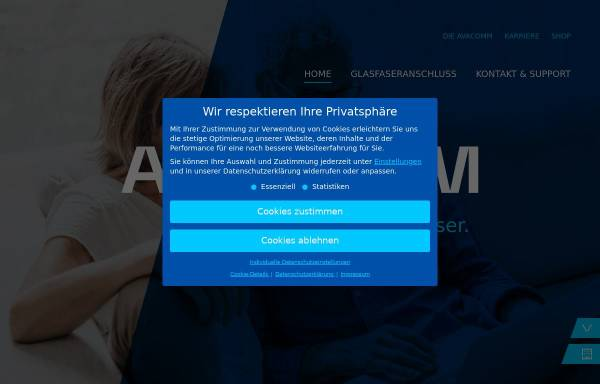 Vorschau von www.avacomm.com, Avacomm Systems GmbH