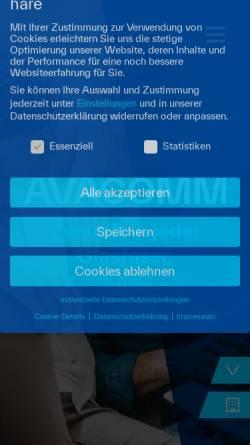 Vorschau der mobilen Webseite www.avacomm.com, Avacomm Systems GmbH