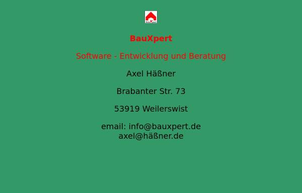 Vorschau von www.bauxpert.de, BauXpert GmbH