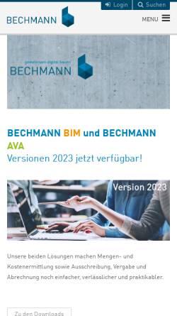 Vorschau der mobilen Webseite www.bechmann-ava.de, Bechmann und Partner GmbH