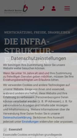 Vorschau der mobilen Webseite www.baustellenbilder24.de, Berthold Becker GmbH
