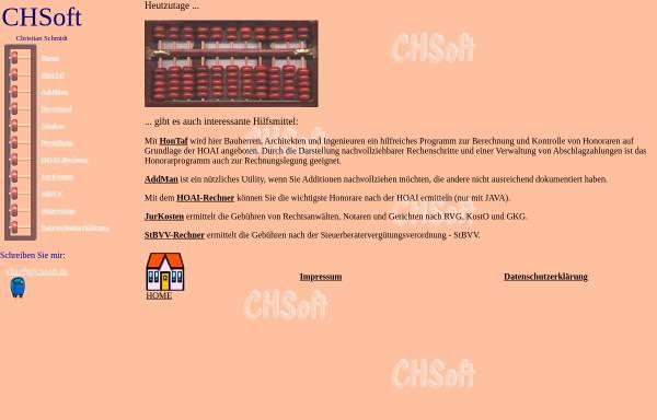 Vorschau von www.hoai-2002.de, CHSoft - HonTaf