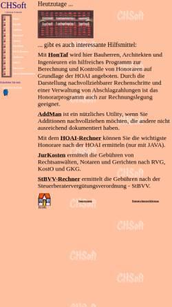 Vorschau der mobilen Webseite www.hoai-2002.de, CHSoft - HonTaf
