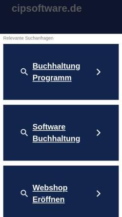 Vorschau der mobilen Webseite www.cipsoftware.de, CIP Informationssystem Bau und Raum