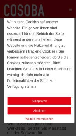 Vorschau der mobilen Webseite www.cosoba.de, Cosoba GmbH