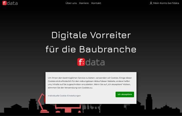 Vorschau von www.fdata.de, F:data GmbH